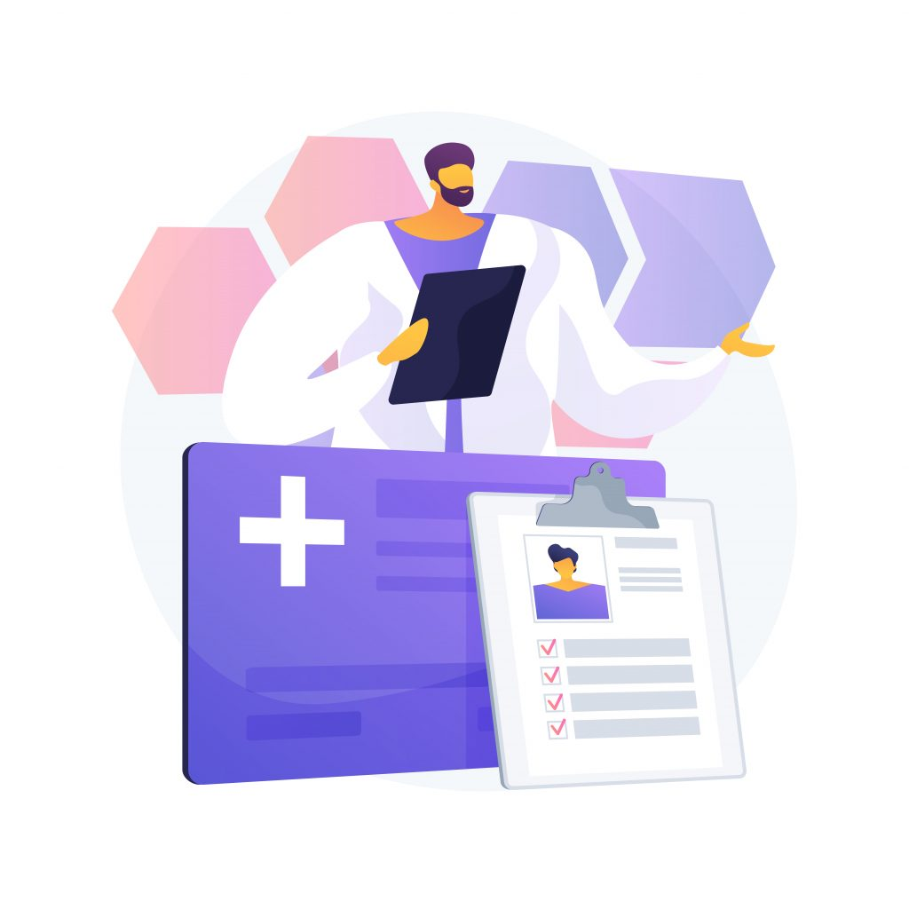The Differences Between Free and Paid EMR Software Male Doctor with Patient Records and Information