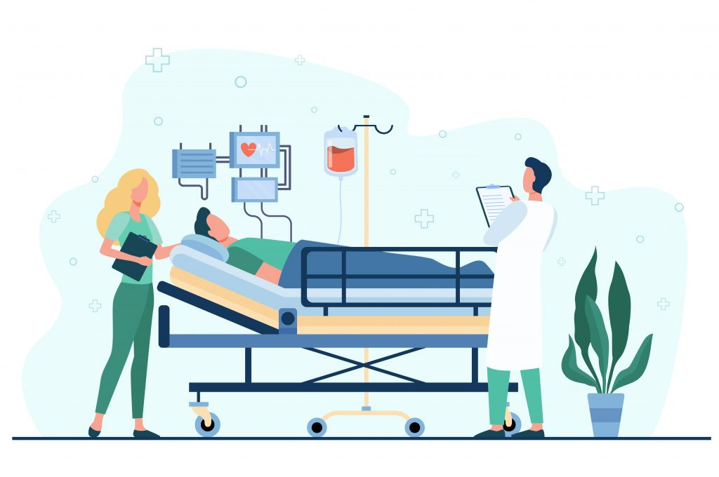Why Your Medical Secretary Needs EMR Software Physician and Medical Secretary Visiting Patient